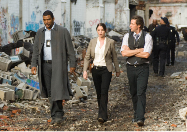 Alex Cross (Tyler Perry), Monica Ashe (Rachel Nichols), and Tommy Kane (Edward Burns)