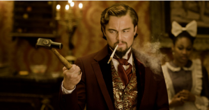 Calvin Candie (Leonardo DiCaprio), the ruthless plantation owner