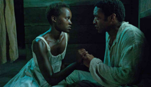 Patsey (Lupita Nyong'o) pleads with Northup to end her life.
