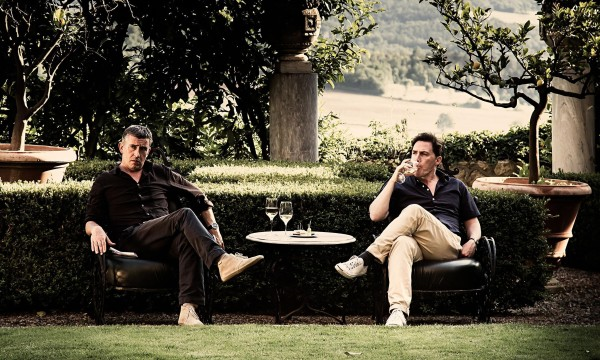 Steve Coogan and Rob Brydon  take a break