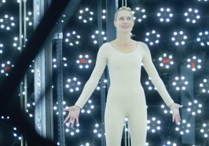 "Robin Wright in the Digital Laboratory ""recording"" all of her mannerisms"