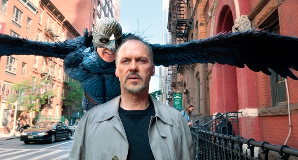 Riggan Thomson (Michael Keaton) heckled by his past, Birdman