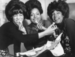 Florence Ballard, Diana Ross, and Mary Wilson having some backstage fun.